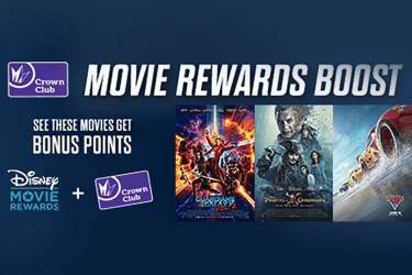 * Requires Disney Movie Rewards membership and connection for the first time with Regal Crown Club, Fandango VIP and/or Atom Rewards membership accounts. Disney Movie Rewards, Regal Crown Club, Fandango VIP and Atom Rewards memberships are free to join.