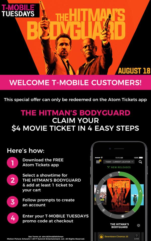 T-MOBILE TUESDAYS - THE HITMAN'S BODYGUARD Redemption | Atom