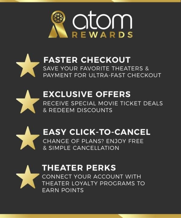 Atom Rewards, Where Movie Lovers Get Rewards! | Atom, Your Ticket to