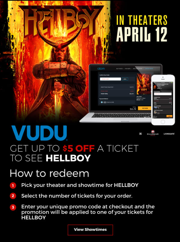 44a5dcee6d Atom CineSavings - Get $5 Off a Ticket to HELLBOY With Your ...