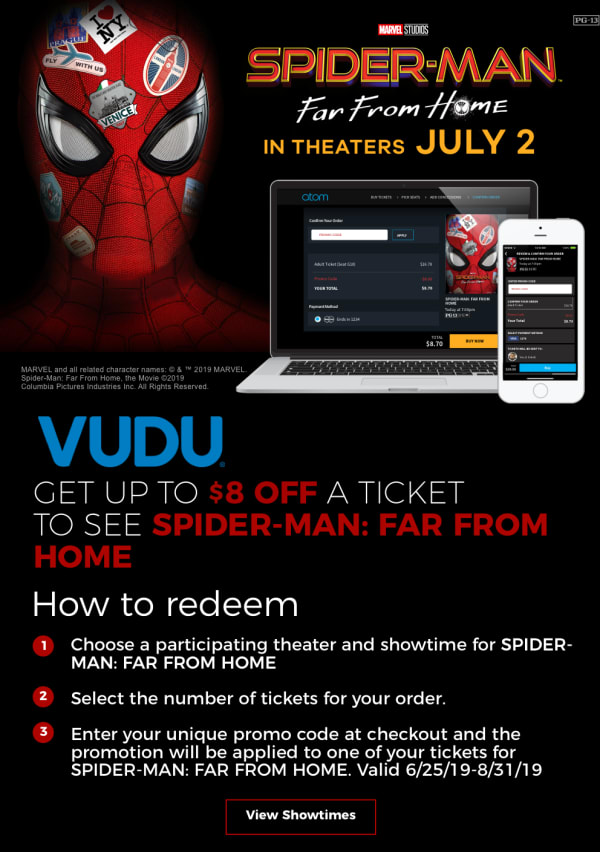 Atom CineSavings - Get $8 Off a Ticket to SPIDER-MAN: FAR