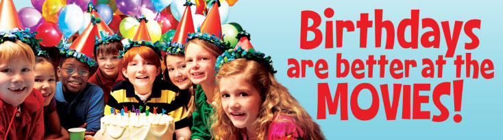 Birthday Parties Regal Crown Club Regal Cinemas Edwards UA - Childrens birthday parties orleans ontario