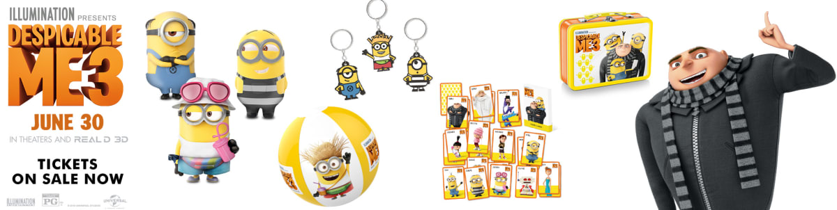 Now Available in the Regal Crown Club Rewards Center - Exclusive Despicable Me 3 Merchandise