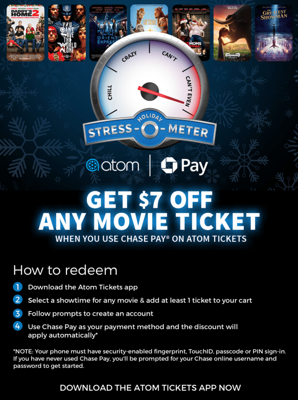Get $7 Off a Ticket to See Any Movie When You Use Chase Pay® for ...
